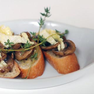 Mushroom and Brie Bruschetta Recipe