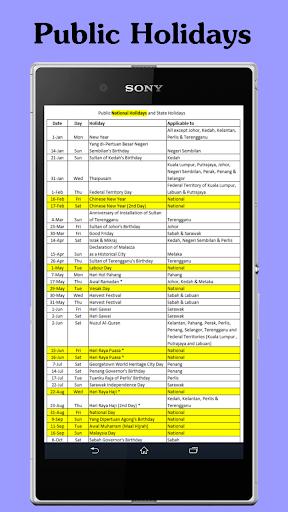 Calendar Malaysia Lite 1.0.13 screenshots 3
