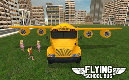 Flying School Bus Sim 2017 1.0.3 screenshots 12