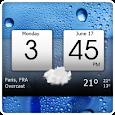 Digital clock & world weather icon