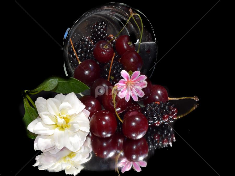 fruits with flowers by LADOCKi Elvira - Food & Drink Fruits & Vegetables (  )