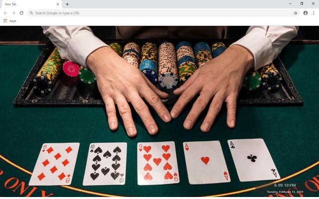 Zynga Poker Texas Holdem New Tab Theme