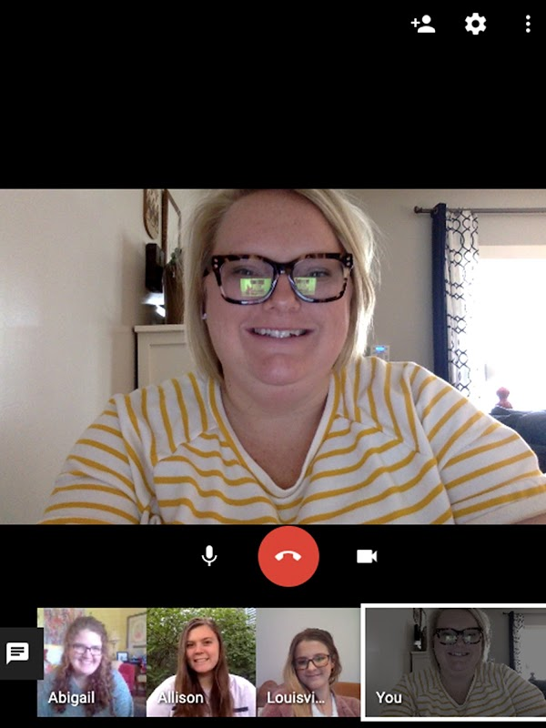 Erin & team meeting through Google Meet
