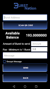 OFFICIAL BURSTCOIN MOBILE WALLET FOR ANDROID- screenshot thumbnail