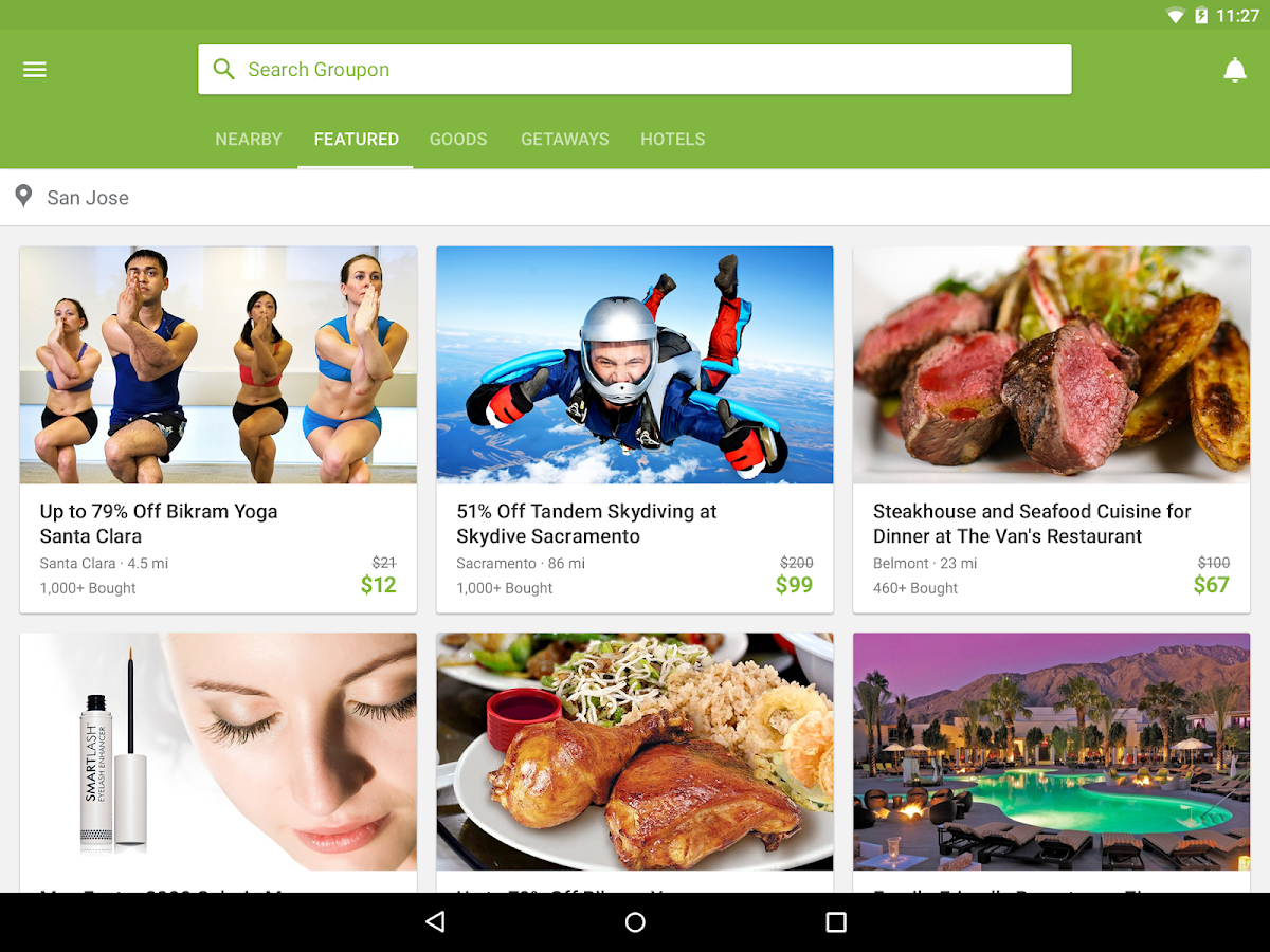 Groupon: captura de pantalla
