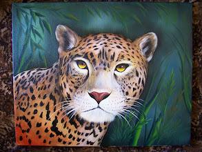 Photo: Tropical Jaguar. 16 x 20 oil on canvas. $299.00
