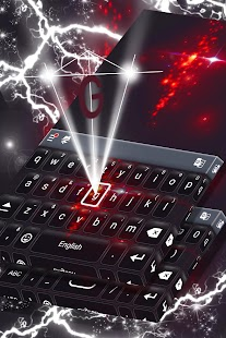 Tajemná klávesnice Red Sparkle - náhled