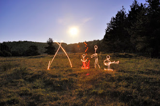 Photo: Guitar Solo - Light painting by Christopher Hibbert, french photographer and light painter. Further information: http://www.christopher-hibbert.com