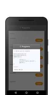 C Programs - náhled