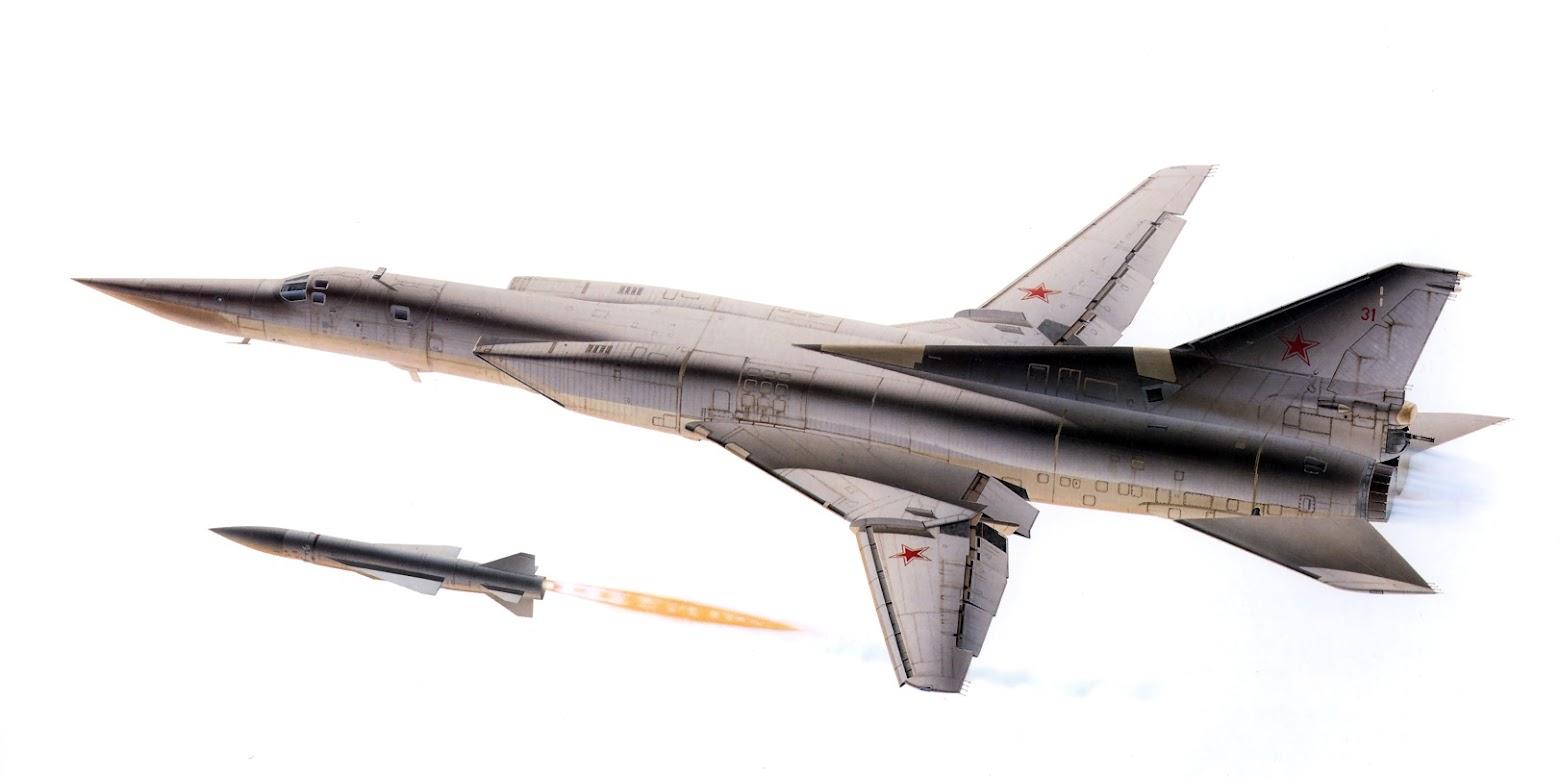 Bombardeiro estratégico Tupolev TU-22M 'Backfire' da Força Aérea da URSS