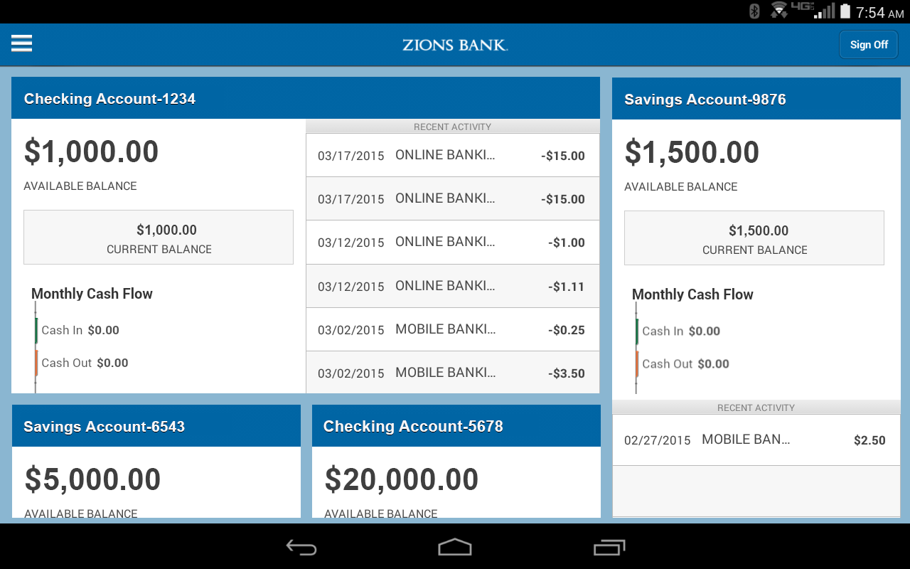 Zions Bank Business Banking- screenshot