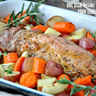 One Dish Garlic & Herb Pork Tenderloin