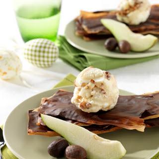 Paaschocoladegebakje Met Vanille-ijs