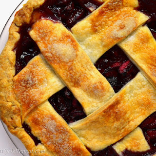 Criss-Cross Lattice-Top Cherry Pie