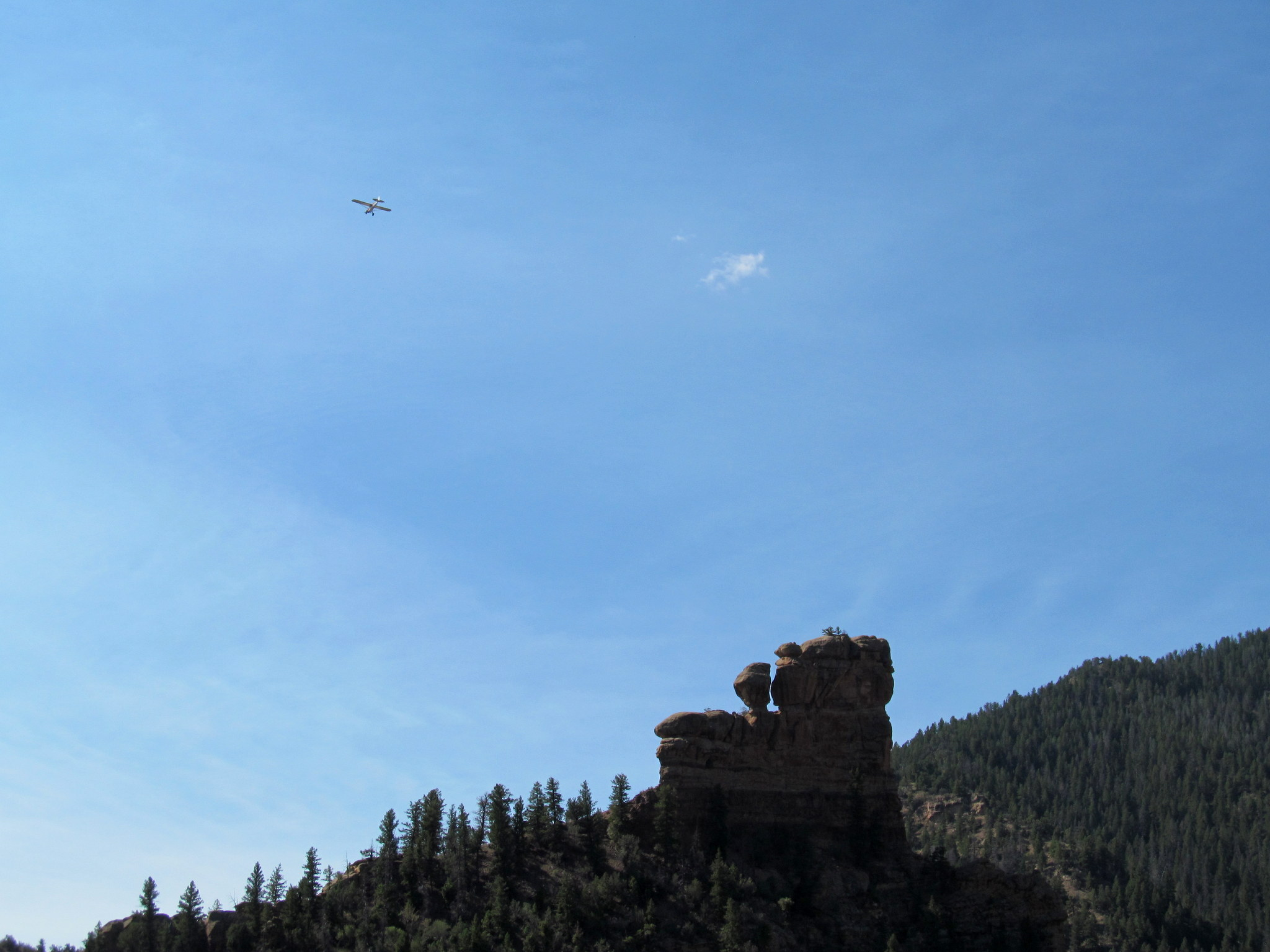 Photo: Airplane over Locomotive Rock
