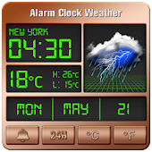 Tải Alarm clock style weather widget APK