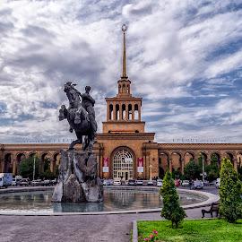 Yerevan Rail station by Amir Kh - Buildings & Architecture Statues & Monuments ( statue, rail station, railway, armenia, yerevan,  )