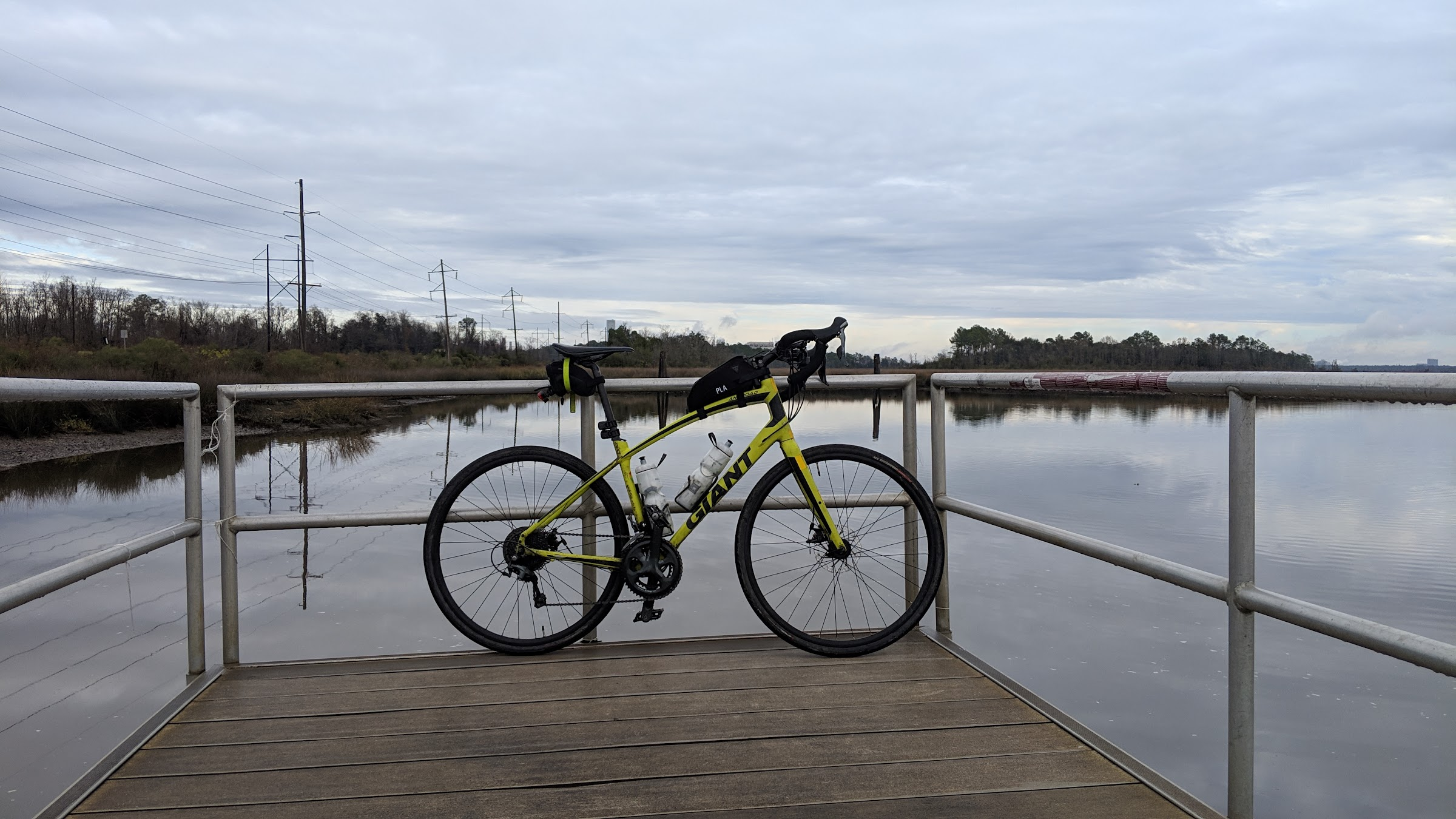 Bike on Bushy Park pier