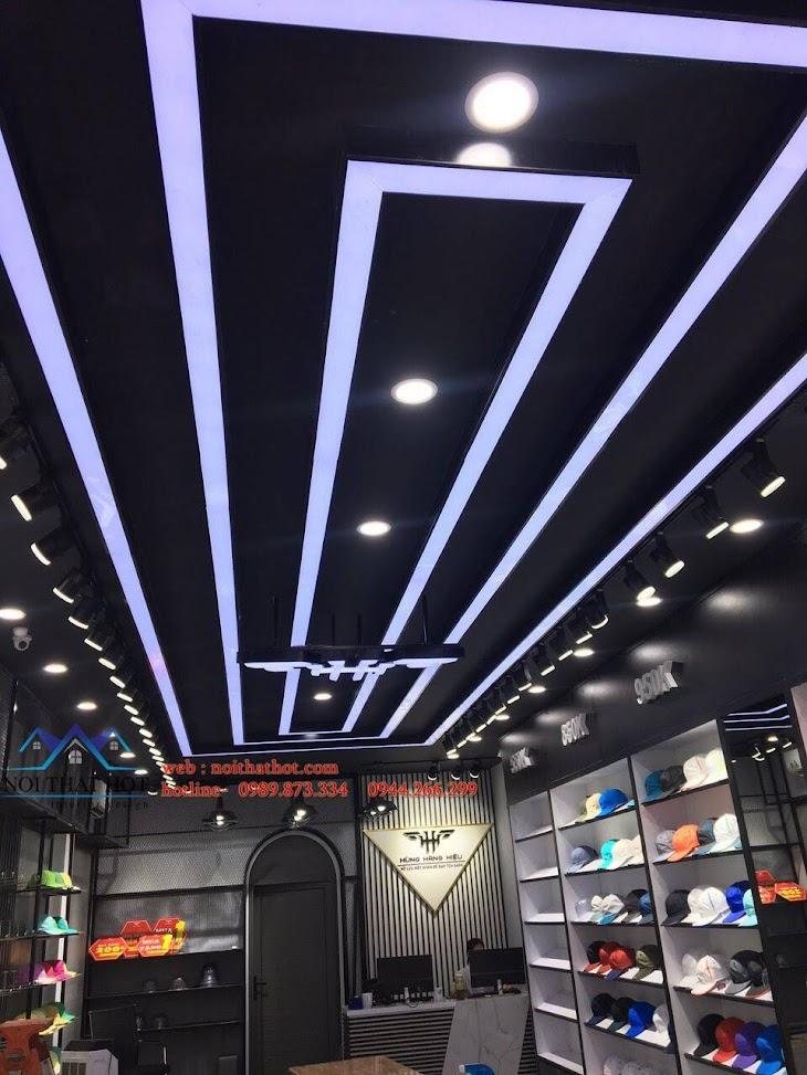 thiết kế trần cửa hàng đẹp