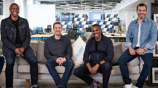 From left: Yoco co-founders Katlego Maphai, Bradley Wattrus, Lungisa Matshoba and Carl Wazen.