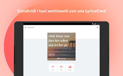 Musixmatch - Testi di Canzoni Screenshot