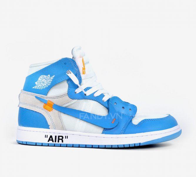 Giày Nike Air Jordan 1s Off White  UNC