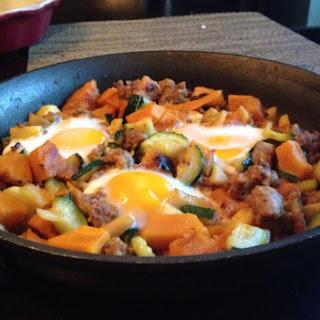 Apple, Zucchini, Kabocha and Breakfast Sausage Hash
