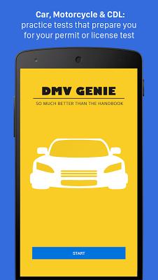 DMV Genie Permit Practice Test - screenshot