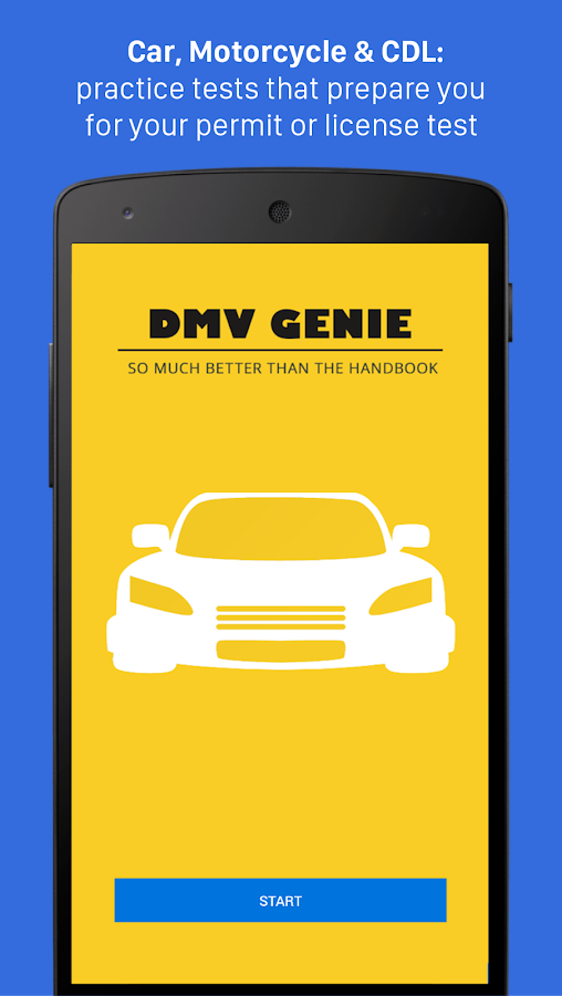 dmv genie permit practice test car cdl android apps on google play. Black Bedroom Furniture Sets. Home Design Ideas