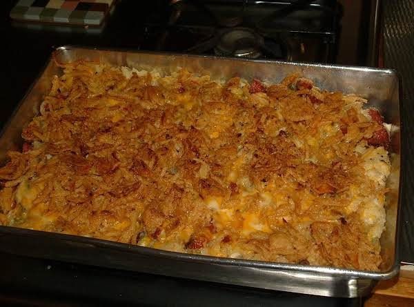 Cheesy  Potato & Green Onion Casserole Recipe