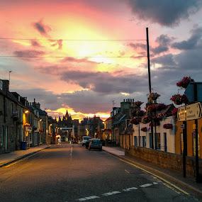 Oldest Royal Burgh in Scotland by Iain Cathro - Instagram & Mobile iPhone ( highland, scotland, sunset, twilight, street, sanctuary, st duthus, royal burgh, tain )