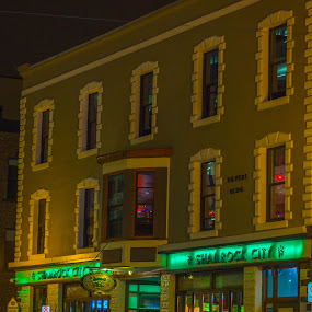 The Pub at Night by Randy Burt - Buildings & Architecture Architectural Detail
