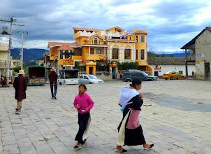 Photo: Central square, Peguche.  Artesania Gran Condor in background.