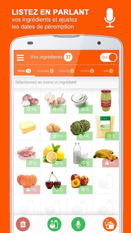 iCuisto - Le Frigo Intelligent- screenshot
