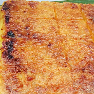 Cassava cake using Cassava Flour.