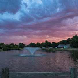 Liberty Lake Morning by Kathy Suttles - Landscapes Cloud Formations