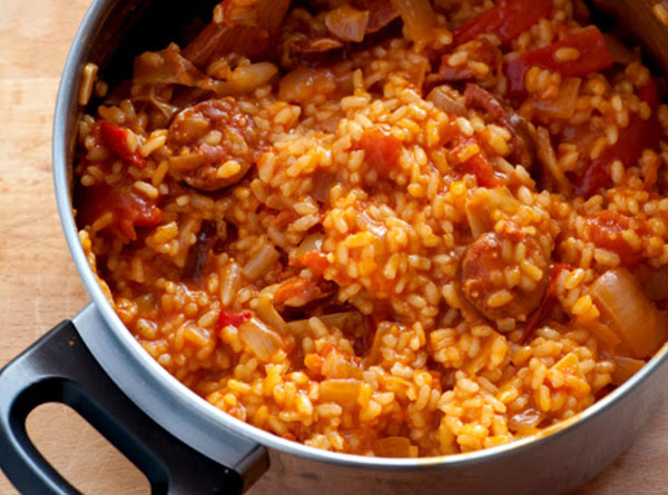 Saffron Rice With Chorizo Recipe