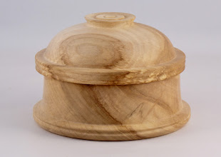 "Photo: Gary Nickerson - 5.5"" x 4"" lidded bowl [maple]"
