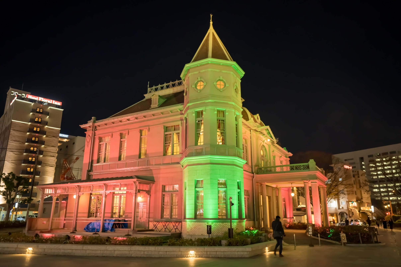 旧福岡県公会堂貴賓館 ライトアップ