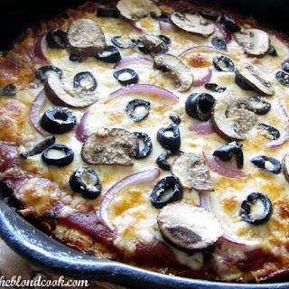 Skillet Cauliflower Crust Veggie Pizza Recipe