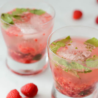 Raspberry-Mint Gin Smash.