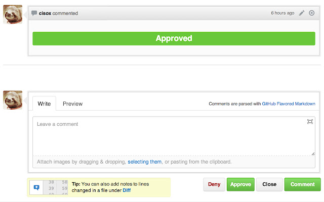 GitHub Approve/Deny