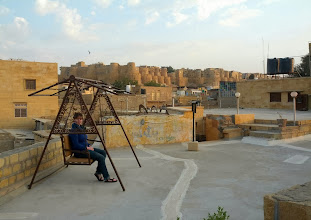 Photo: You can see why Jaisalmer is called the golden city.  Everything is built from sandstone.
