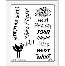 Dreamweaver Stencils LG - Bird song UTGÅENDE