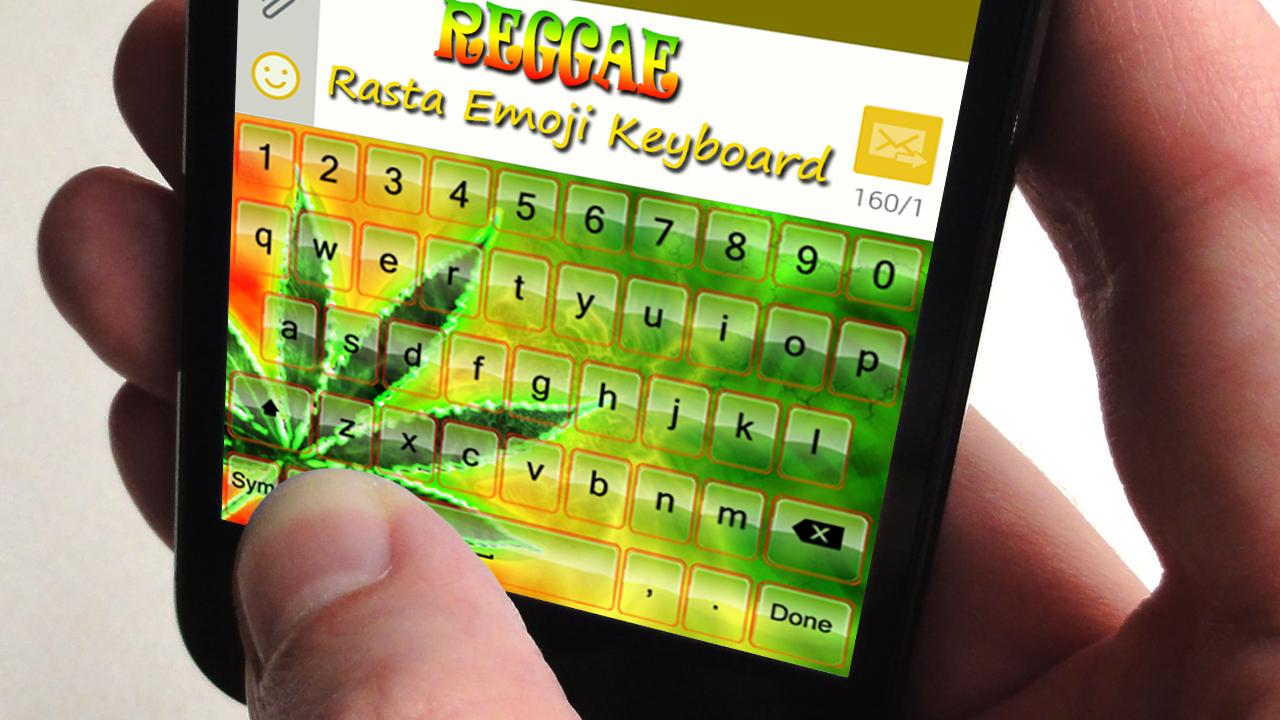 Google themes rasta - Reggae Rasta Emoji Keyboard Screenshot