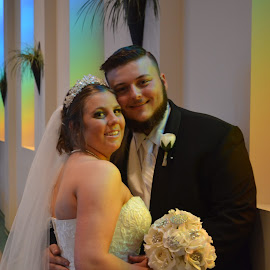 Newly weds by Brenda Shoemake - Wedding Bride & Groom