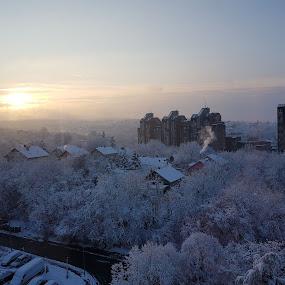 by Dusan Arezina - City,  Street & Park  Vistas ( sky, sunrise, snow, ice, belgrade )