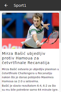 Sport1.ba- screenshot thumbnail