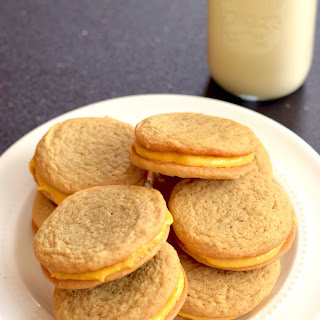 Pumpkin Latte Sandwich Cookies