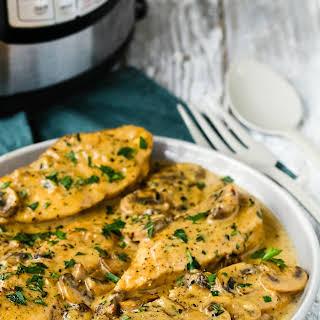Easy Instant Pot Chicken Marsala.